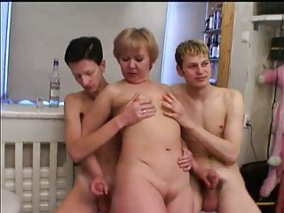 Mature gets some young dick