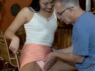 VIP4k. Mischievous chick cheats on her bf with his mature