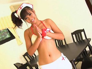 Sweet teen nurse Buppha serves me this time