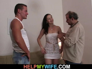 Highly elder man ask a dude satiate his youthfull wifey