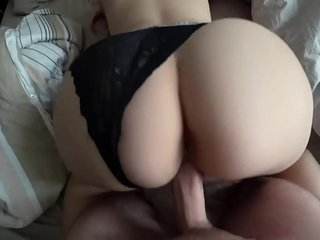 Fat Ass Youthful Gal plows through underpants