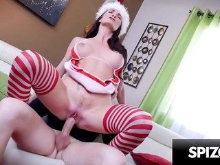 Scorching Cougar Silvia Saige wants a Big Large Young Dick for Christmas -Spizoo
