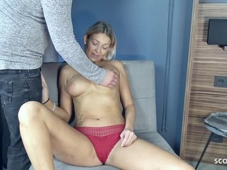 GERMAN SCOUT - BIG All-natural Boobies Assistant Teenage FUCK AT PICKUP CASTING