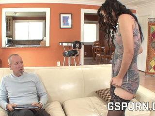 A piggy father and a superslut stepdaughter