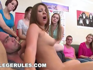 School RULES - Gang Of Wild Teens Toying Orgy Games In Their Dormitory