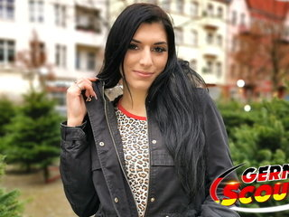 GERMAN SCOUT - CUTE TEEN KRISTALL FUCK At one's fingertips PICKUP Sling