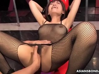Domineer Yui Shimizu got mating toys all over her tight ass cleft