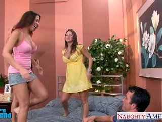 Hot brunettes Mariah Milano, Rachel Roxxx with the addition of Rachel Starr think the world of a dude