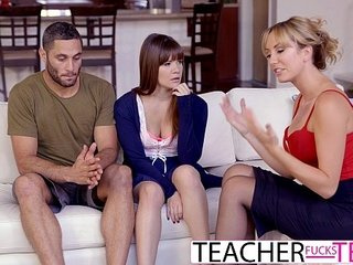 Hot Instructor Tricks Students Buy Threeway Think the world of
