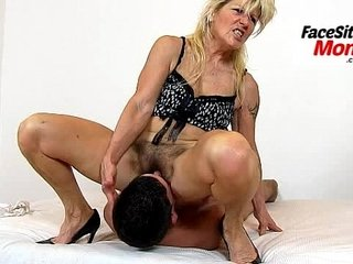 Hot legs unskilful milf Renate high heels plus pussy eating