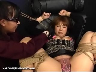 Alien MILF Asian At great cost Explores BDSM Rope Fetish